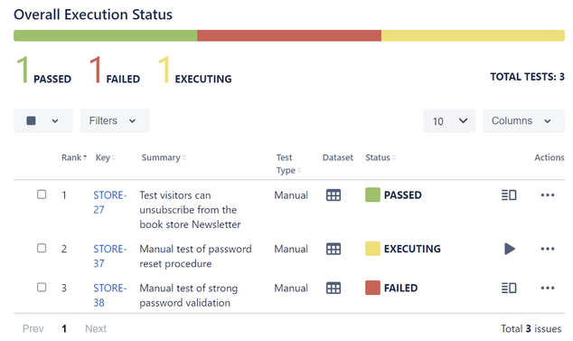 overall-execution-status-report